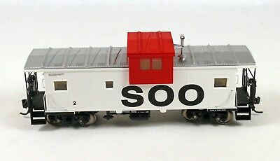 Atlas #1912 Extended Vision Caboose SOO Line #2 HO Scale 1/87