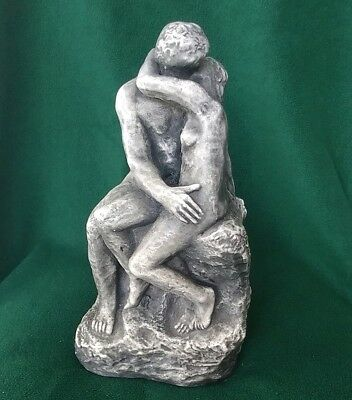 The Kiss by Auguste Rodin 1840-1917 Nude Stone Look Statue Sculpture Replica!
