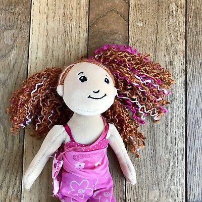 """Courageous Camara Scouts Groovy Girl Plush Soft Toy 13"""" Curly Red Pink Hair"""