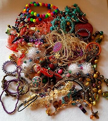Huge Mixed Joblot Of Antique And Costume Jewellery