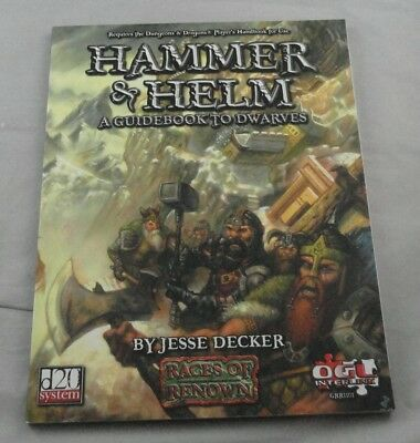Dungeons and Dragons 3rd Ed d20 Hammer & Helm: Guidebook to Dwarves GRR1101