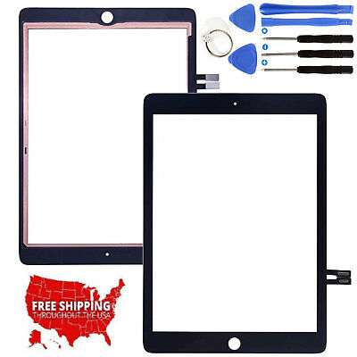 """Black Touch Screen Digitizer Glass Part For 2018 iPad 6 6th Gen 9.7"""" A1893 A1954"""