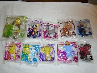 McDonalds Happy Meal 2007 Shrek the Third complete set of 10 figures