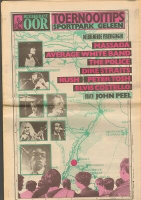 OOR PINKPOP 1979 The POLICE Thin Lizzy P TOSH  Elvis Costello RUSH Dire Straits