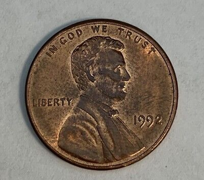 1992 RARE LINCOLN Penny - double die obverse-reverse errors Collectible Coin