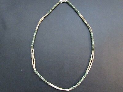 NILE  Ancient Egyptian AmuletDouble Strand Mummy Bead Necklace ca 600 BC