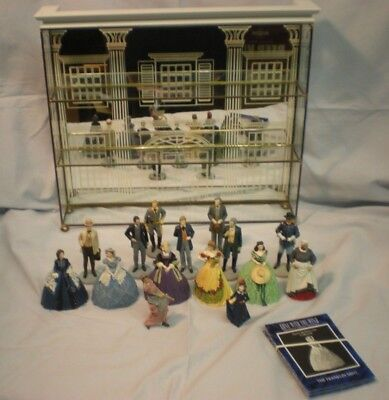 GONE WITH THE WIND Franklin Mint Sculpture Collection Display 15 figurines