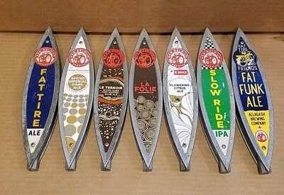 Lot of 7 Used New Belgium Brewing Co Beer Tap Handles