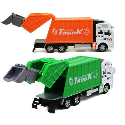 High Quality 1:32 Pull Back Power Garbage Truck Model Toy Gift For Kids Children