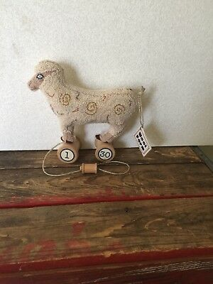 Sheep Faux Pull Toy Punch Needle