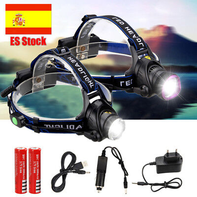 Zoom 10000Lm XM-T6 LED Impermeable Linterna Cabeza Luz Frontal LÁMPARA USB 18650