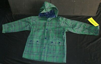 A Lot of Children's Reversible Waterproof Raincoats with Hood -Unisex-Sizes 2 -7