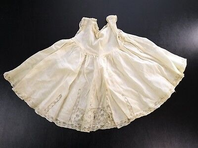 Antique Filet Lace Handmade Baby Girl Slip Petticoat Vintage Cotton