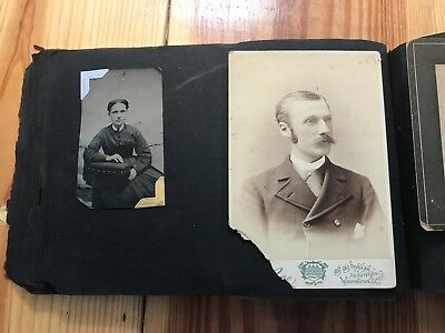 1880s CDV Photo Album Joseph Sessford Abraham Lincoln's Assassination Ticket
