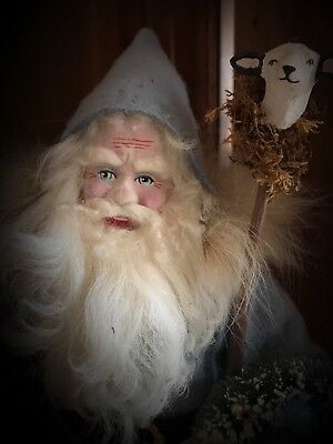 """18"""" Handmade German-style Bellsnickle Clay Santa Claus Antique Vintage by Jeri"""