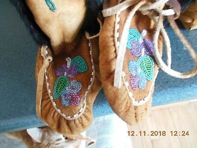 Beaded Native American Moccasins Boots