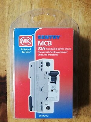 MK SENTRY MCB 10A 16A & 32A CIRCUIT BREAKERs 5910s 5916s & 5932s