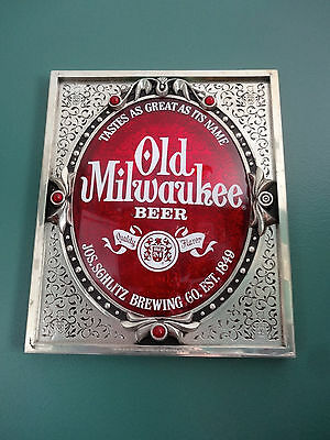 Vintage 1976 Old Milwaukee Beer Tastes As Great As Its Name Bar Sign