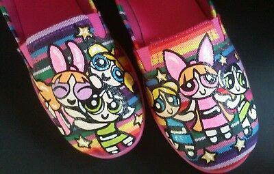 fff6103548e40 NEW POWERPUFF GIRLS Blossom Bubbles Buttercup Airwalk Girl's Shoes Flats Sz  5