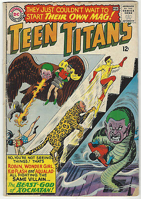 TEEN TITANS #1 VG Jan-Feb '66 Nick Cardy-c/a DC Comics