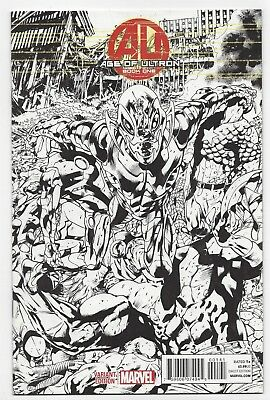 Marvel Comics: Age Of Ultron #1 - 1:100 Brian Hitch Sketch Variant (2013)