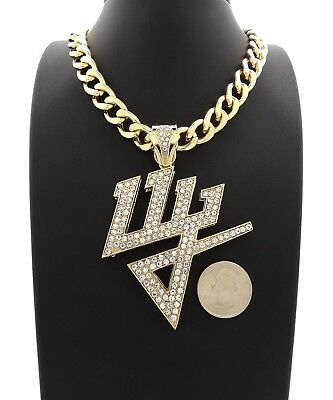 Hip Hop Iced Out Daddy Yankee Dy Pendant Necklace Many Chain