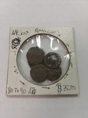 Ancient Roman Coins 80 to 90 AD (LOT OF 5)