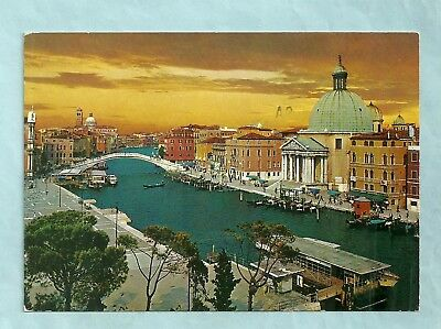 The Grand Canal Postcard, Chrome, Posted, Venice, Italy