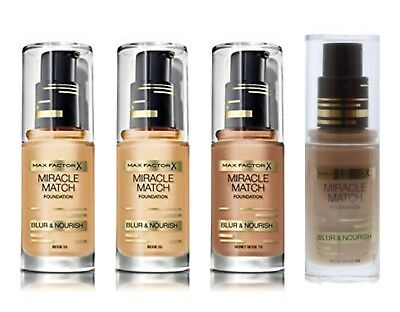Max Factor Miracle Match Foundation Please Choose Your Shade Brand New Sealed