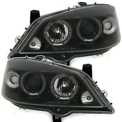 2 Phares Angel Eyes Opel Astra G 02/1998-01/2005 Coupe Bertone Berline Noir Led