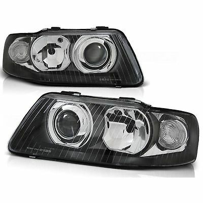 2 Phares Audi A3 8L Phase 2 Glace Lisse Noir 9/2000-3/2003 Look Xenon Cligno