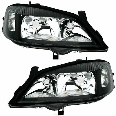 2 Phares Opel Astra G 2/1998-1/2005 Coupe Bertone Berline Glace Lisse Noir