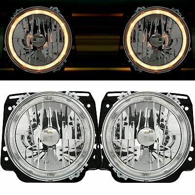 2 Phares Angel Eyes Vw Golf 2 8/1983-12/1992 Chrome Cristal