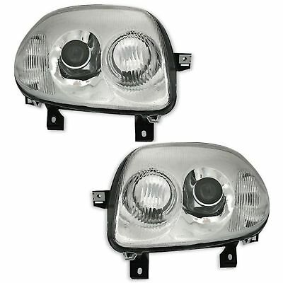 2 Phares Renault Clio 2 Phase 1 5/1998-4/2001 Look V6 Chrome Glace Lisse