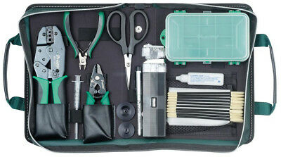 Fiber Optic Tool Kit Wire Cutters Strippers Scissors Scope Tweezers Chisel Tip