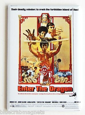 Enter the Dragon FRIDGE MAGNET (2 x 3 inches) movie poster bruce lee kung fu