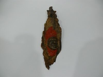Vintage Hand Carved Timber Aboriginal Elder With Ceremony Head Dress