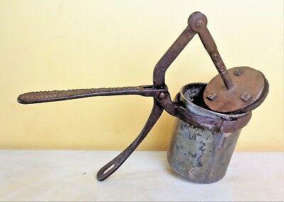Antique Pat 1913 Potato Masher? Juicer Extractor? Signed METROPOLITAN GREENHOUSE