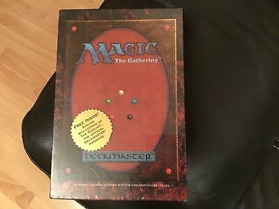 Magic The Gathering  DECKMASTER X2 60 Card Decks . 30 glass counters . BOXED NEW