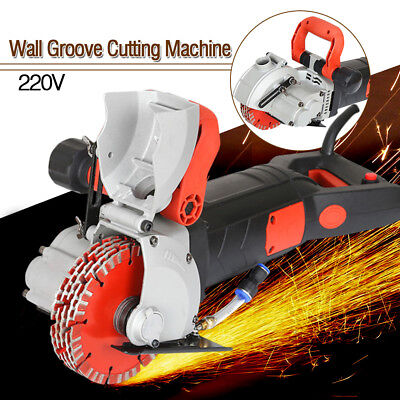 New Wall Groove Cutting Machine Electric Wall Chaser Slotting Machine Tools 220V
