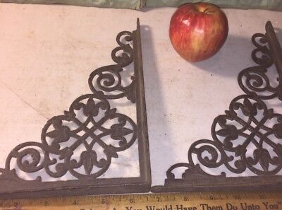 Antique VICTORIAN cast iron shelf brackets EX!!!