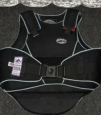 Champion Flex Air Horse Riding Body Protector Black Size M Child's