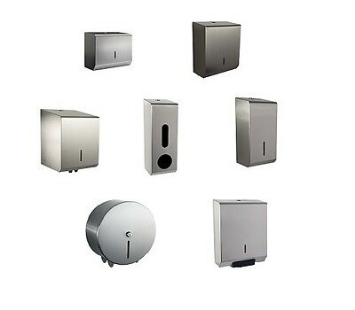 Stainless Steel Hand Towel or Toilet Roll Dispensers - FREE DELIVERY