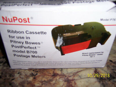 New NUPOST P767 RIBBON FOR PITNEY BOWES MODEL B700 POSTAGE METERS 767-1