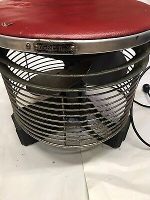 Excel-Aire Vintage Round Floor / Stool Style Fan Chicago Cooler