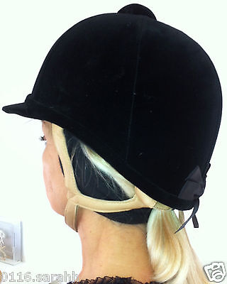 Riding Hat Ear Warmers - 2 Sizes - Black And Navy