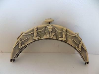 Art Deco 20's Celluloid Bakelite Egyptian Revival Tuttan Khamun Clutch Bag Frame