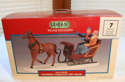 Lemax Village Collection 2000 HORSE AND SLEIGH