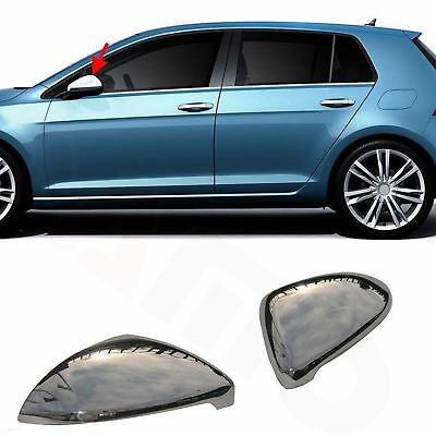 2 Coque Retroviseur Vw Golf 7 Berline 3 5 Portes & Sw Apres 11/2012 Chrome