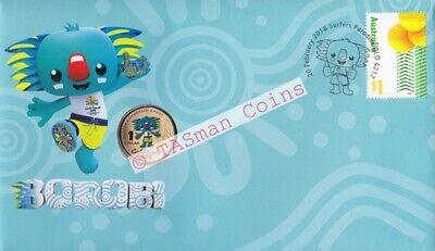 PNC Australia 2018 BOROBI Mascot XXI Commonwealth Games RAM $1 Coloured Coin